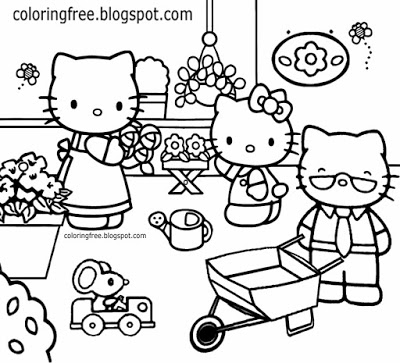 hello kitty family coloring pages hello kitty with gift box coloring page in 2020 hello pages hello coloring kitty family