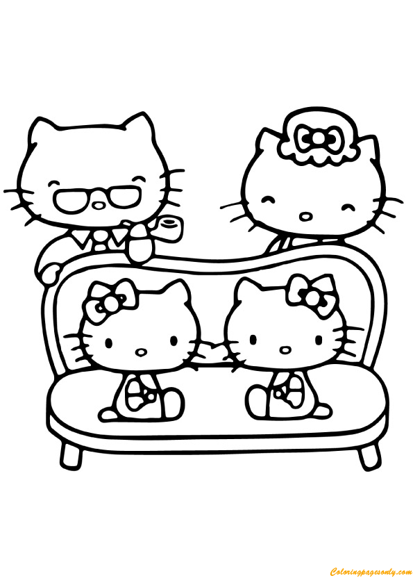 hello kitty family coloring pages top 75 free printable hello kitty coloring pages online coloring kitty family pages hello