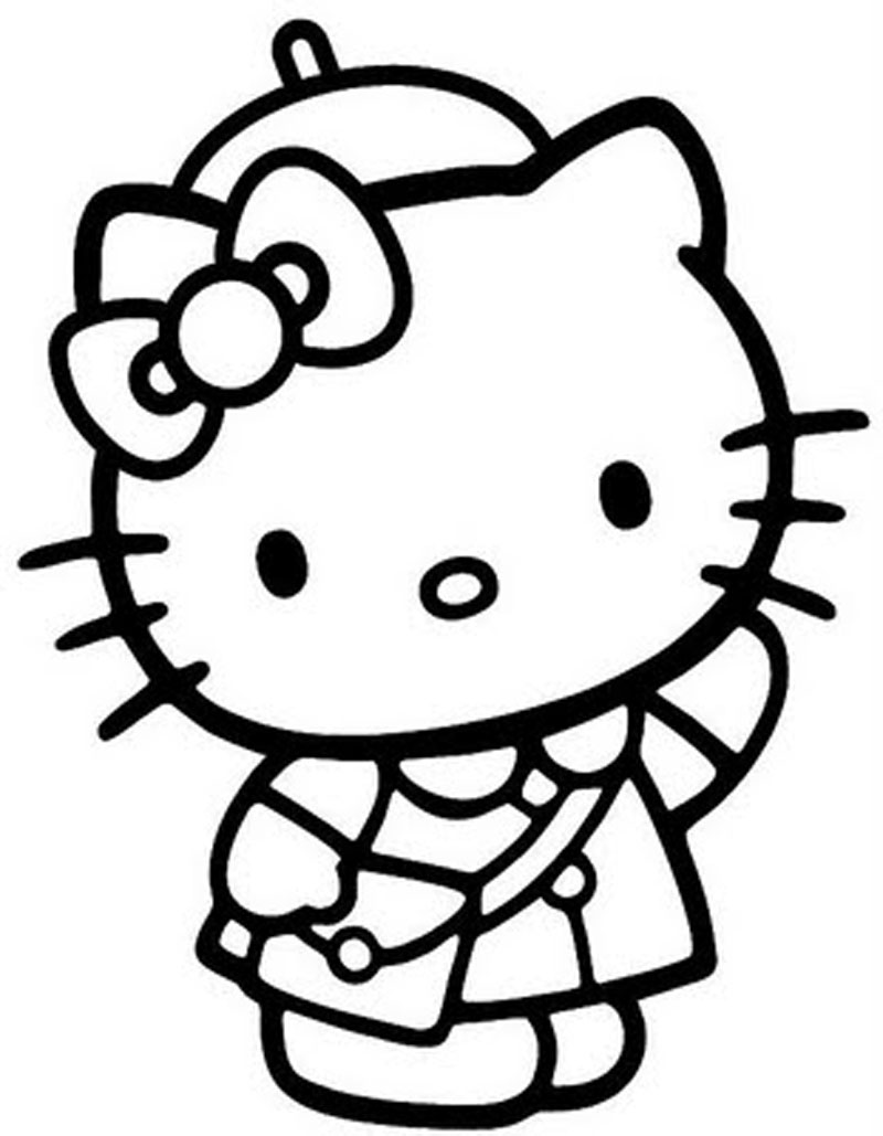 hello kitty free coloring pages free printable hello kitty coloring pages for pages free coloring hello kitty pages