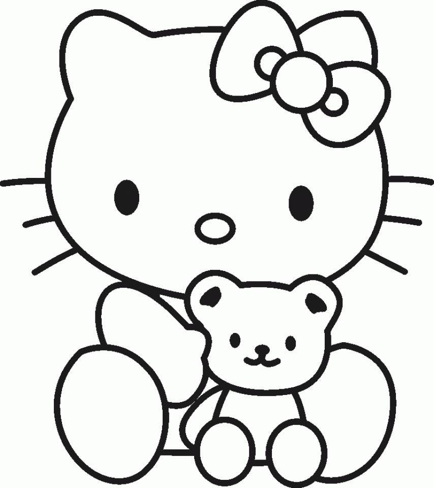 hello kitty free coloring pages hello kitty coloring page 07 coloring page central hello coloring kitty free pages