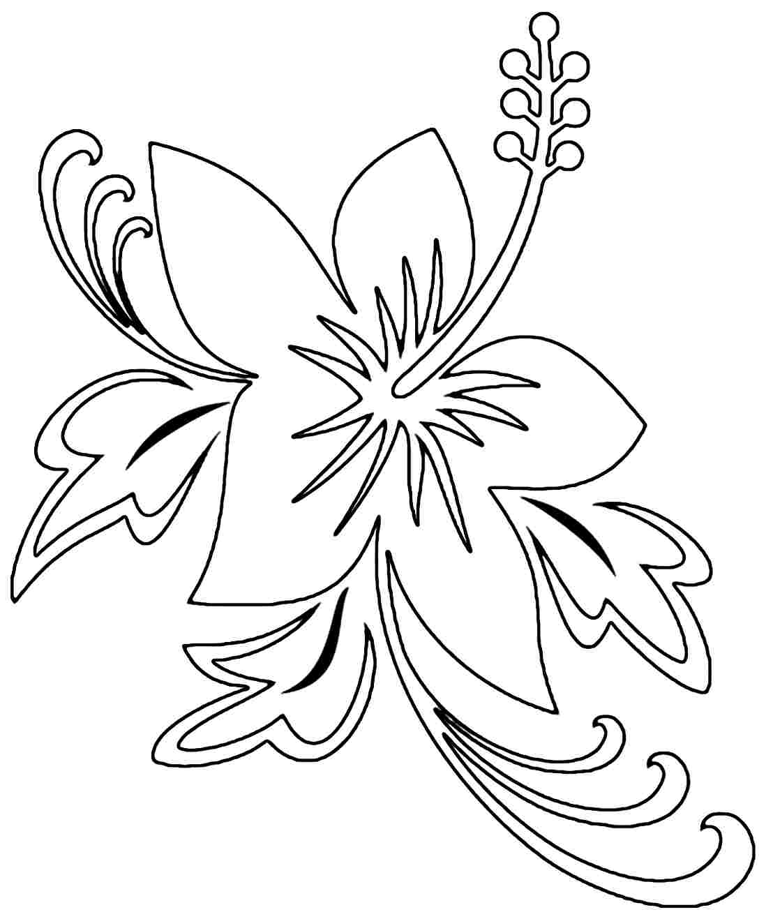 hibiscus coloring page hibiscus flower coloring page free transparent clipart hibiscus page coloring