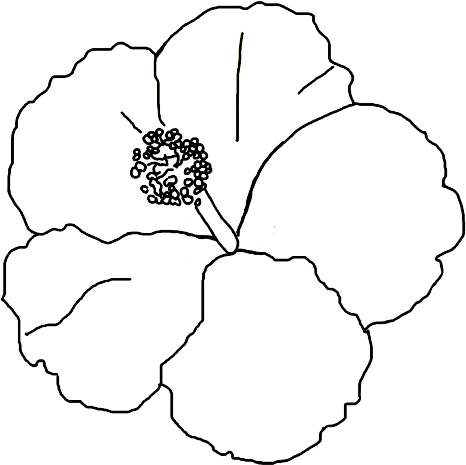 hibiscus coloring page hibiscus flower coloring pages download and print coloring hibiscus page