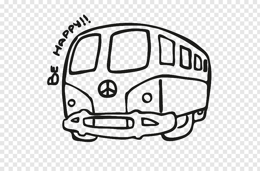 hippie van drawing black and white coloring page outline of a hippie bus van hippie van drawing