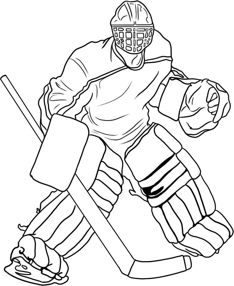 hockey coloring pages to print hockey goalie drawing at getdrawings free download hockey coloring print pages to