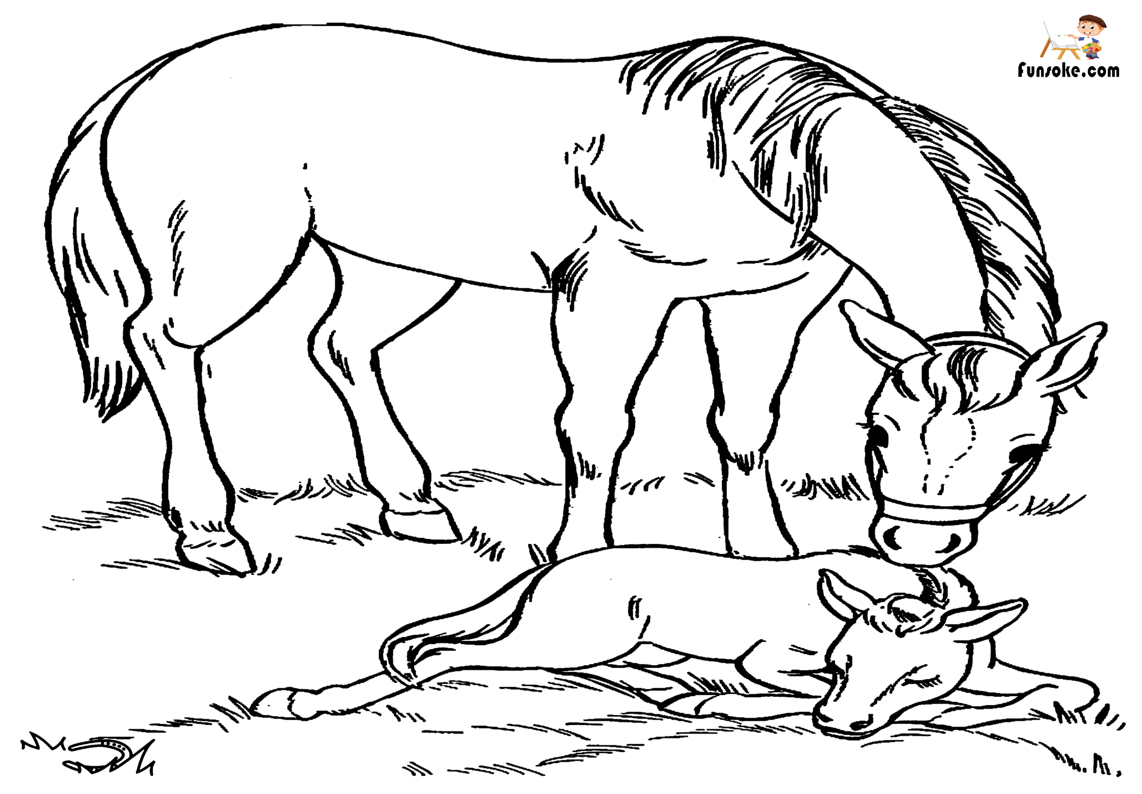 horse coloring free printable horse coloring pages for kids funsoke coloring horse