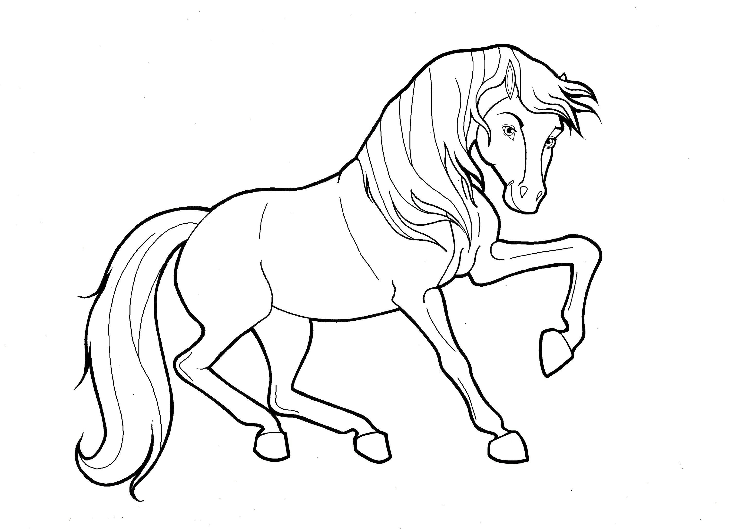horse coloring printable color pages of horses activity shelter horse coloring
