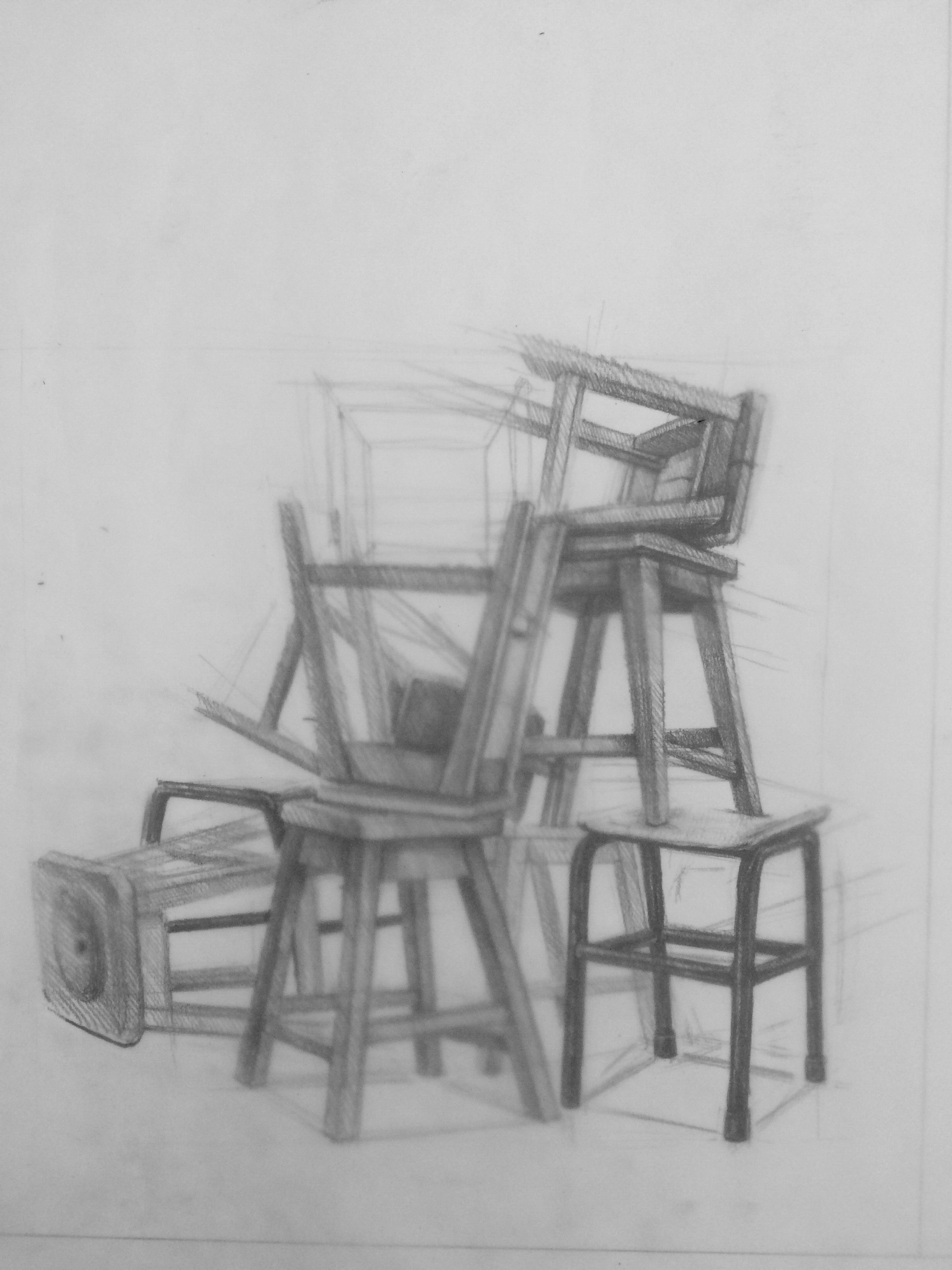 how to draw a 3d chair 34 chair drawing pencil ideas drawings chair drawing how draw 3d to chair a