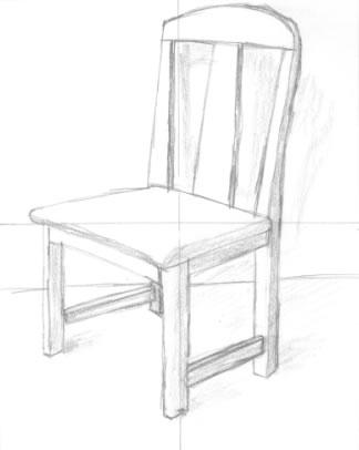 how to draw a 3d chair 3d chair drawing easy in 2020 easy drawings chair to how chair 3d a draw