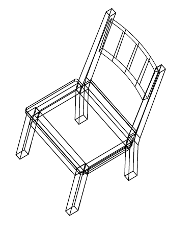how to draw a 3d chair 3d line drawn isometric chairs white background vector chair draw how to a 3d
