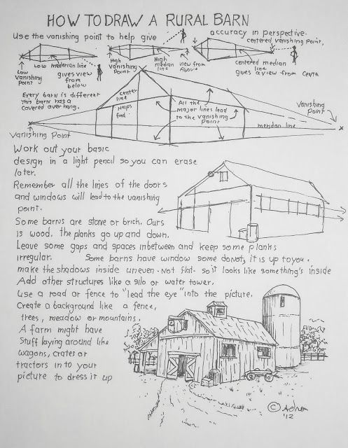how to draw a barn characteristic old barn drawing barn draw a how to