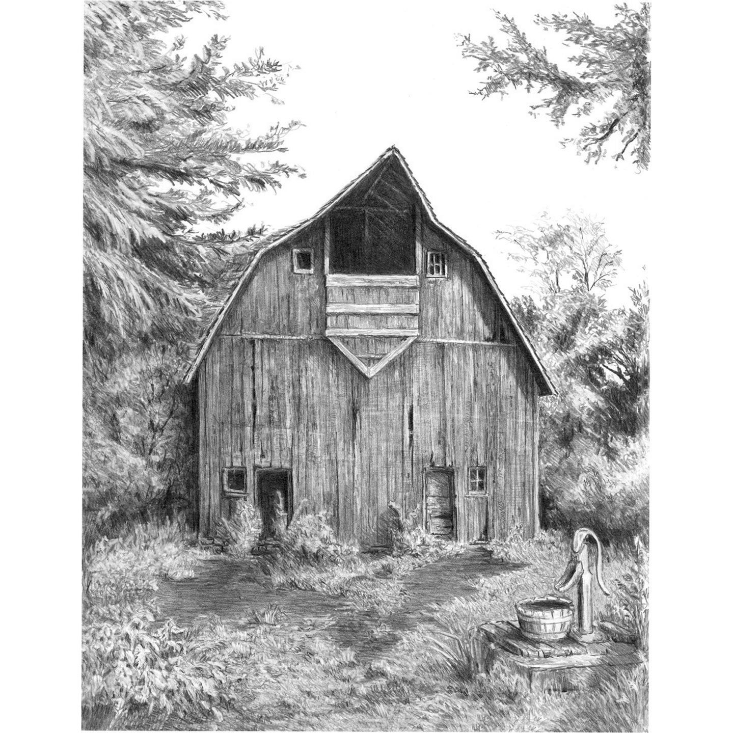 how to draw a barn easy barn drawing at getdrawings free download draw a how to barn