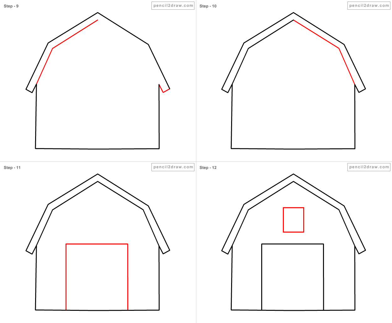 how to draw a barn how to draw a barn house and fence step 5 barn drawing draw a barn to how