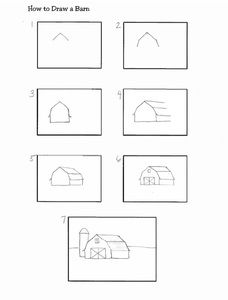 how to draw a barn how to draw a barn step by step smart kids 123 how a to barn draw