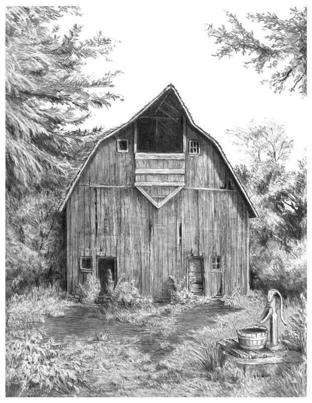 how to draw a barn old barns drawings google search cool landscapes to a barn how draw