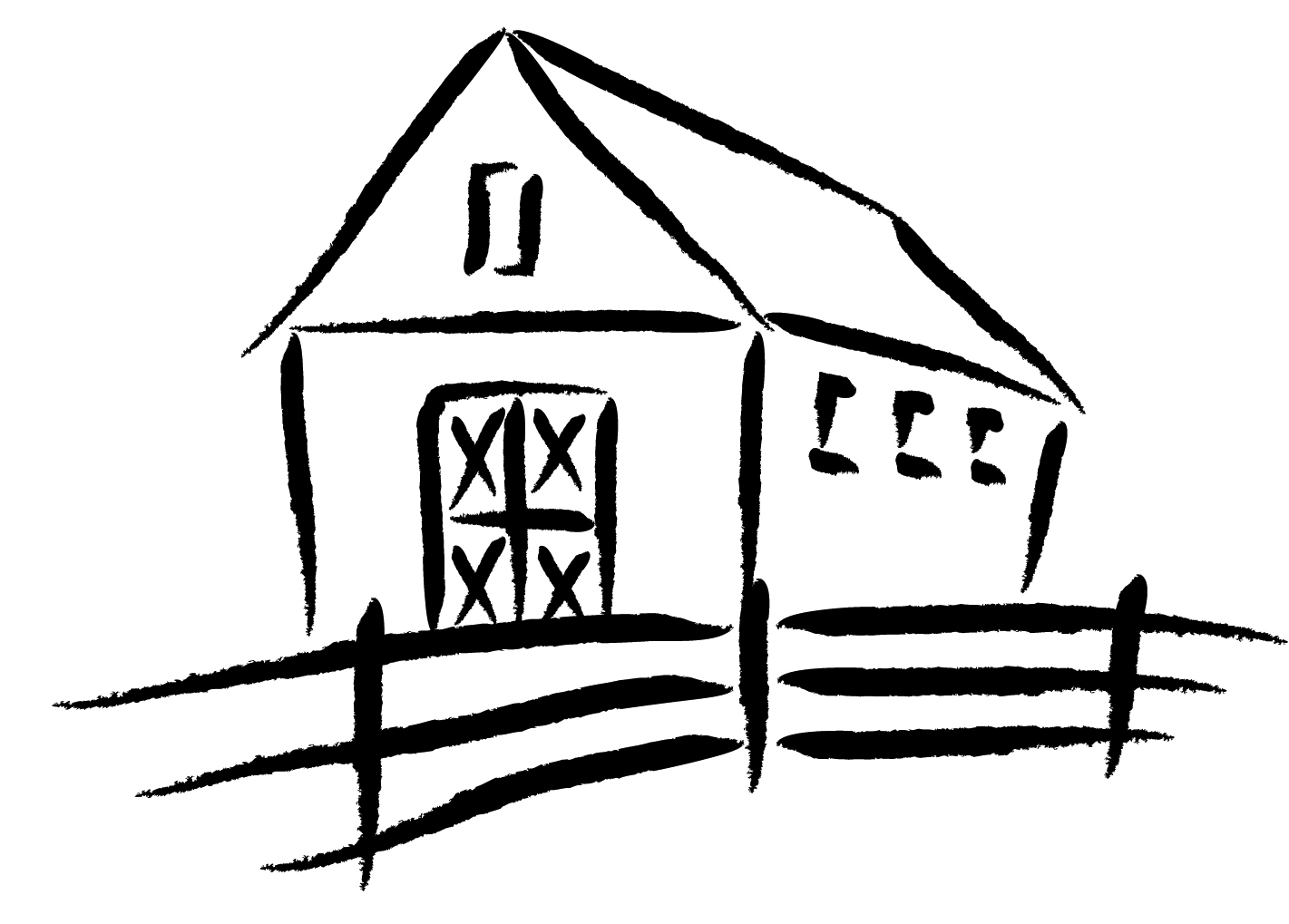 how to draw a barn simple barn drawing at getdrawings free download barn draw a how to