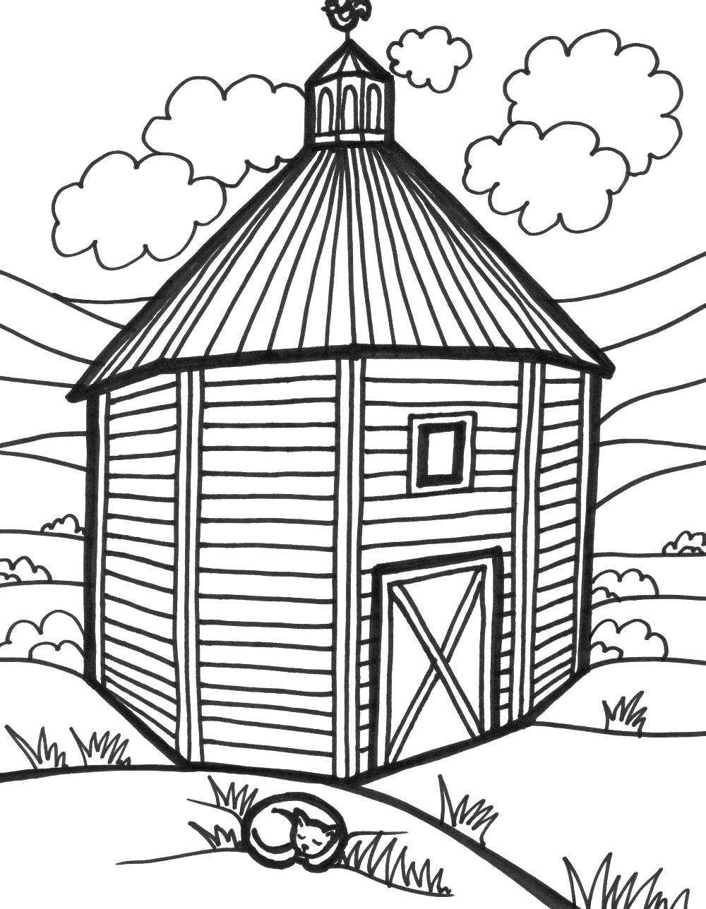 how to draw a barn simple barn drawing at getdrawings free download how a barn to draw