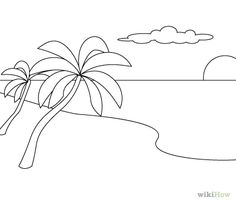 how to draw a beach beach landscape drawing at getdrawings free download beach how to draw a