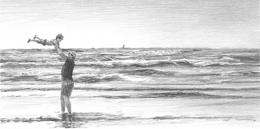 how to draw a beach beach landscape drawing at getdrawings free download draw beach how to a