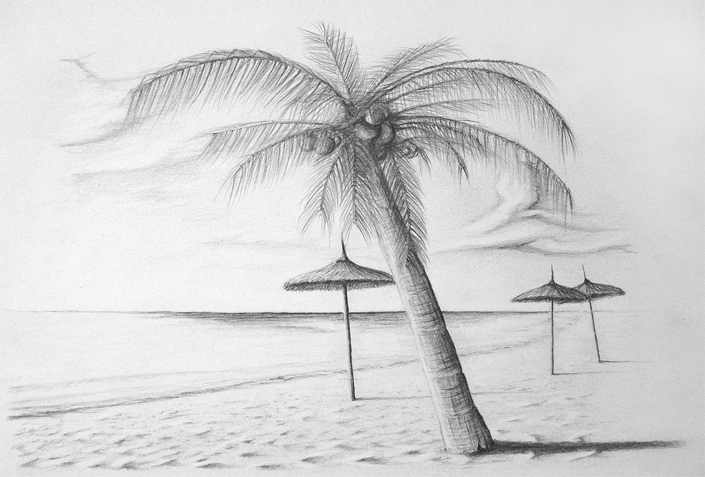 how to draw a beach beach pencil sketch at paintingvalleycom explore draw beach how to a