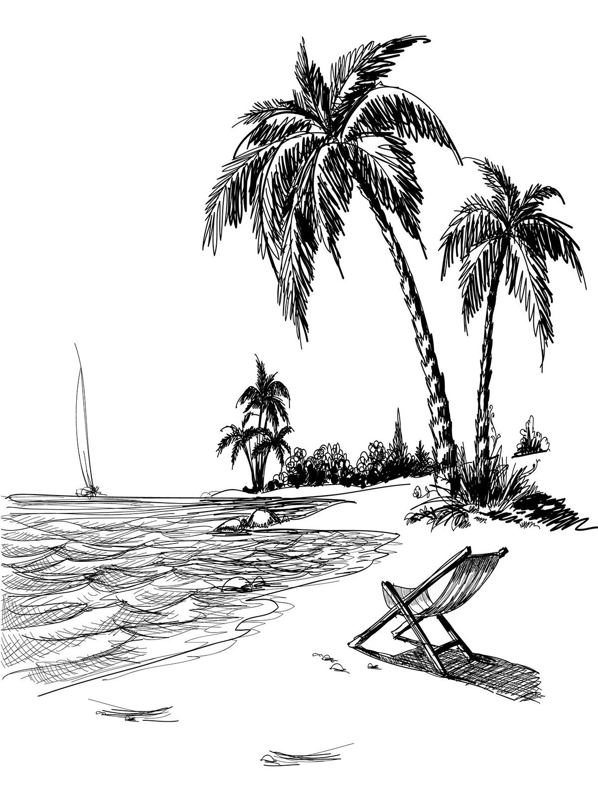 how to draw a beach how to draw a beach in 6 steps with picsarts step by step beach to how draw a