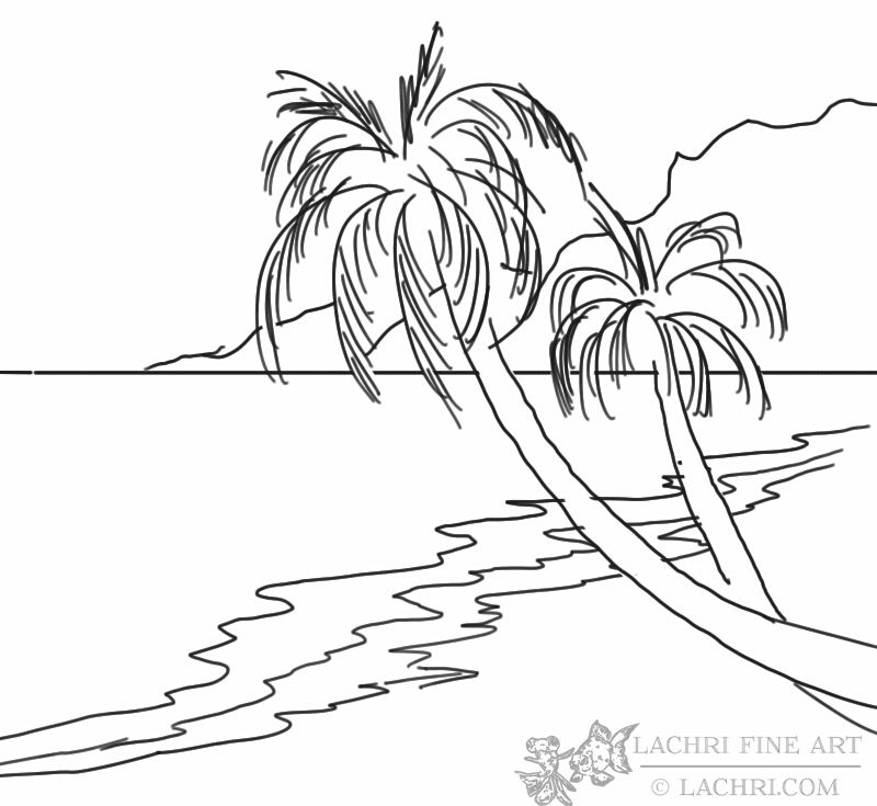 how to draw a beach how to draw a beach really easy drawing tutorial to draw a how beach