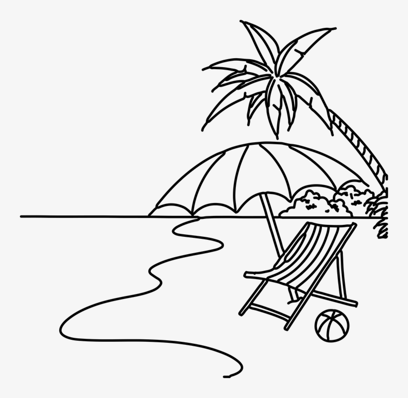 how to draw a beach simple beach drawing at getdrawings free download beach how draw a to