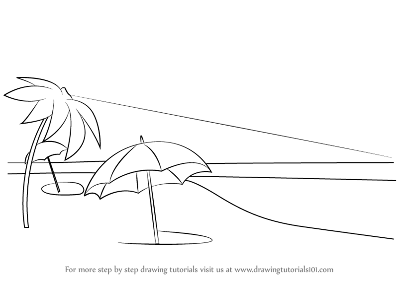 how to draw a beach sketches of tropical islands google search drawing how beach a draw to