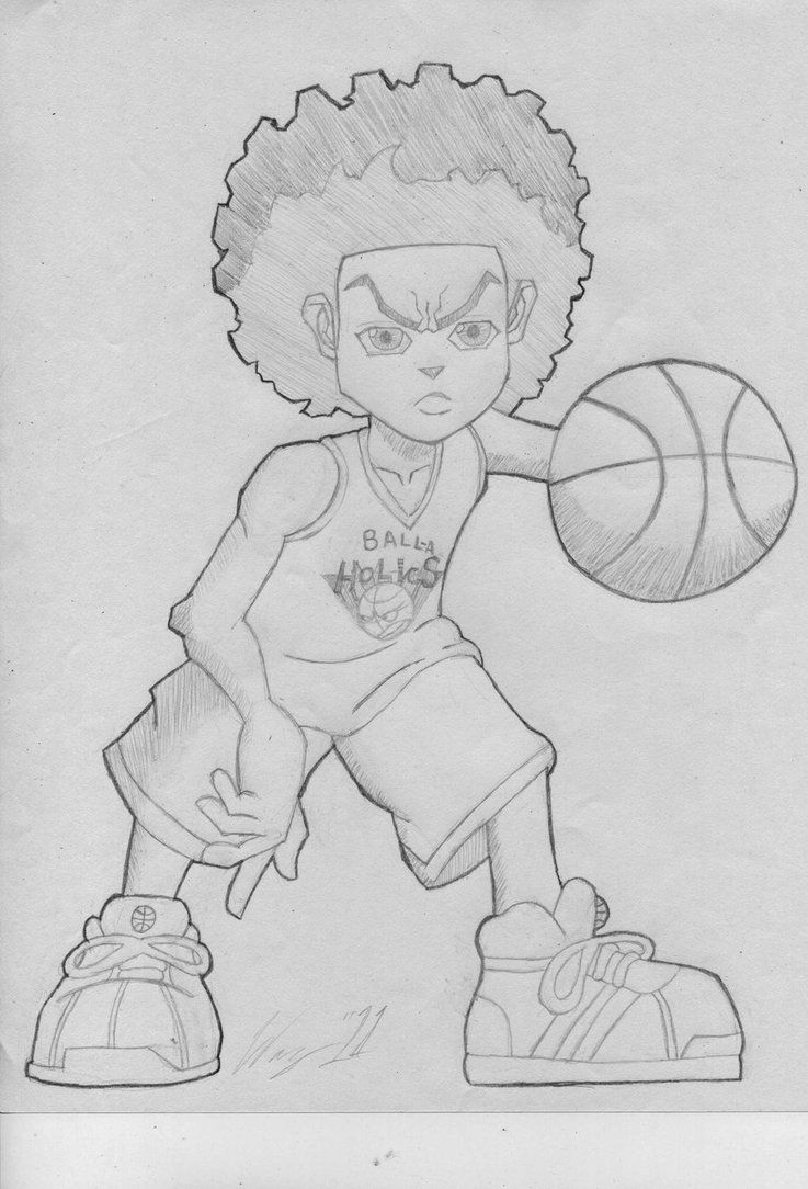 how to draw a boondocks character sketch of the boondocks drawings coloring pages boondocks to character a draw how