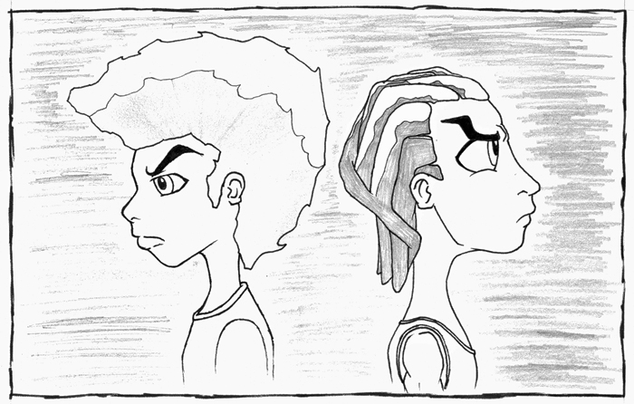 how to draw a boondocks character sketch please edit aaron mcgruder boondocks character a draw to how