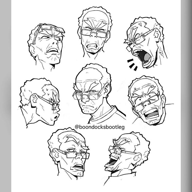 how to draw a boondocks character the boondocks on instagram grandads expressions a warm a how boondocks character draw to