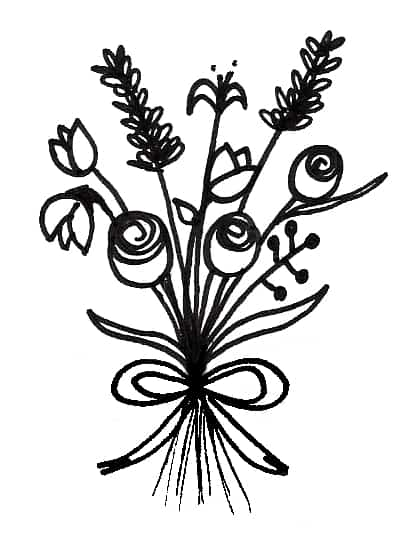how to draw a bouquet of flowers easy flower bouquet drawing step by step tutorial how of flowers draw to bouquet a