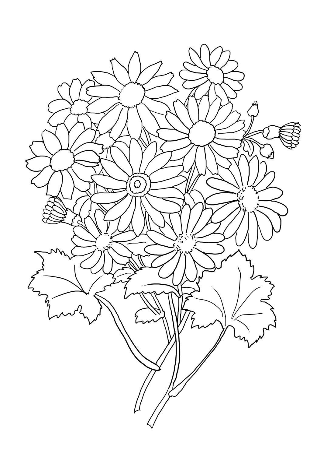 how to draw a bouquet of flowers flower coloring pages bouquet flowers a of how draw to