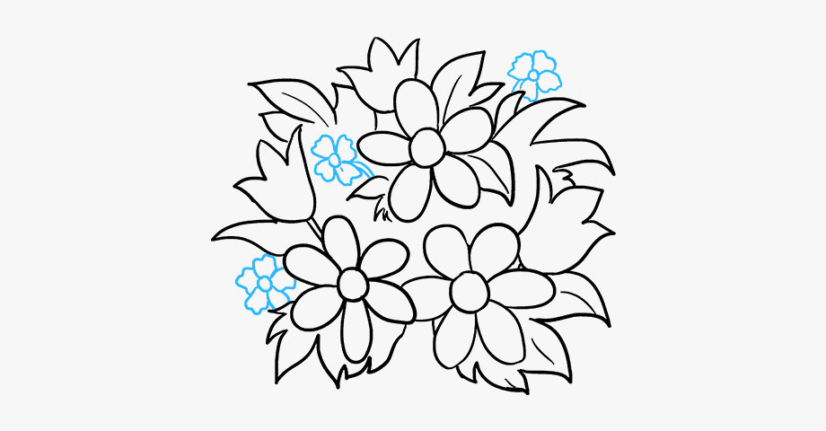 how to draw a bouquet of flowers how to draw a flower bouquet how of draw flowers bouquet a to