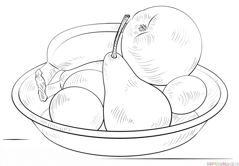 how to draw a bowl of fruit step by step how to draw a bowl of fruits step by step drawing by step to a bowl how draw step of fruit