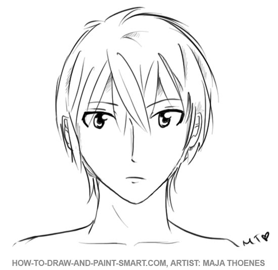 how to draw a boy drawing side view anime boy step by step by how to a boy draw