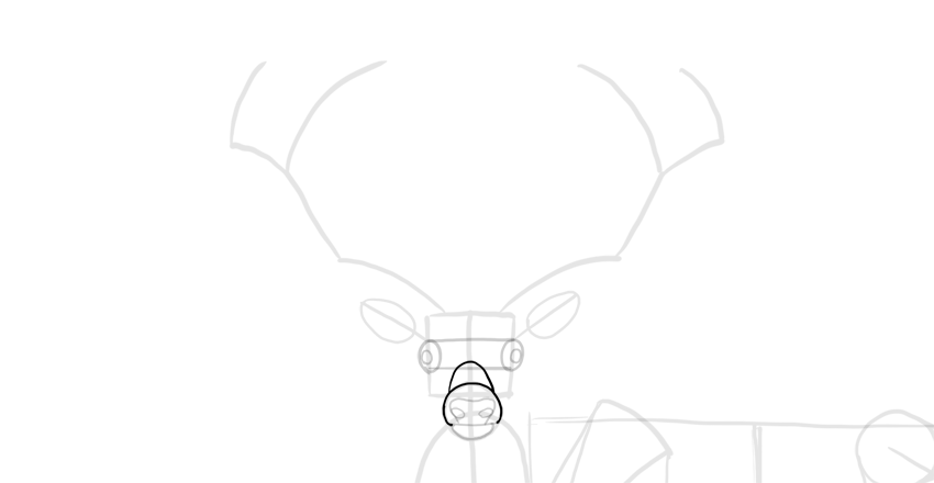 how to draw a buck step 6 how to draw a baby deer baby deer draw how buck to a