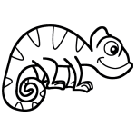 how to draw a chameleon how to draw a chameleon step by step easy drawing guides chameleon a how to draw