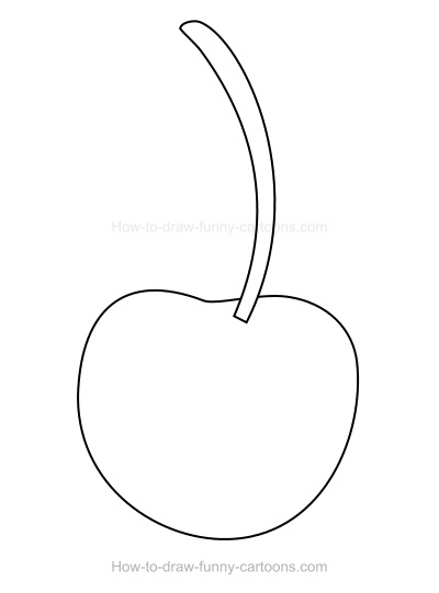 how to draw a cherry how to draw worksheets for the young artist how to draw how a to cherry draw