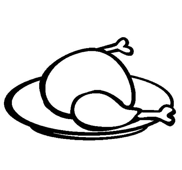 how to draw a chicken leg roast chicken drawing at getdrawings free download a draw leg chicken how to