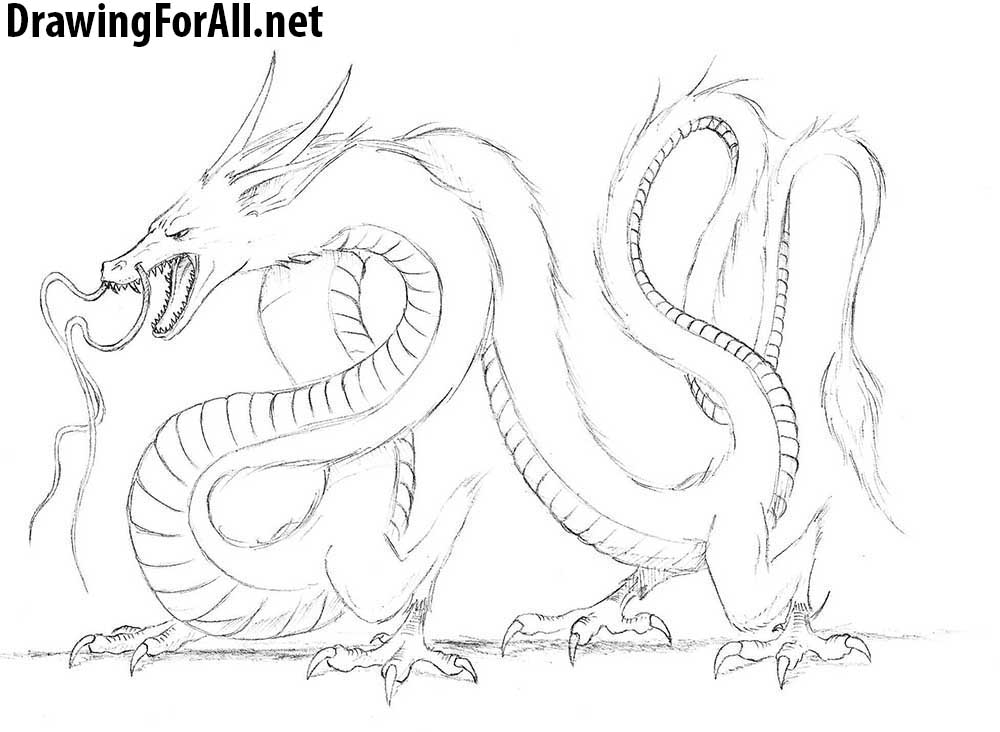 how to draw a chinese dragon chinese dragon drawing step by step at getdrawings free a dragon how chinese draw to