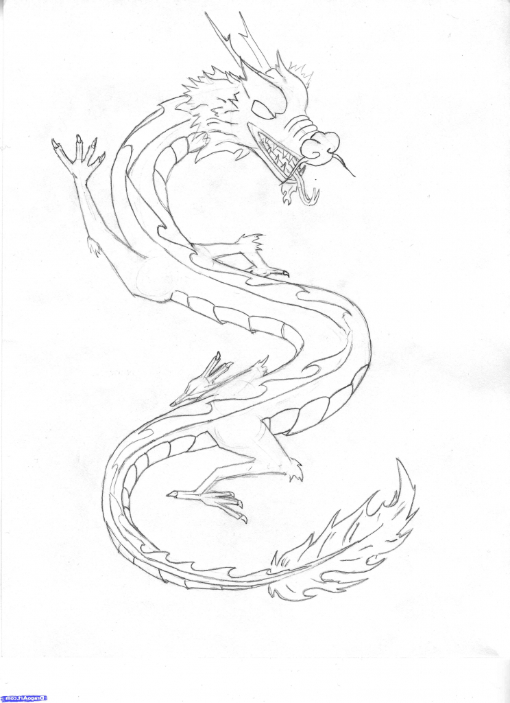 how to draw a chinese dragon chinese new year dragon drawing lesson by dawn dragoartcom how draw a chinese to dragon