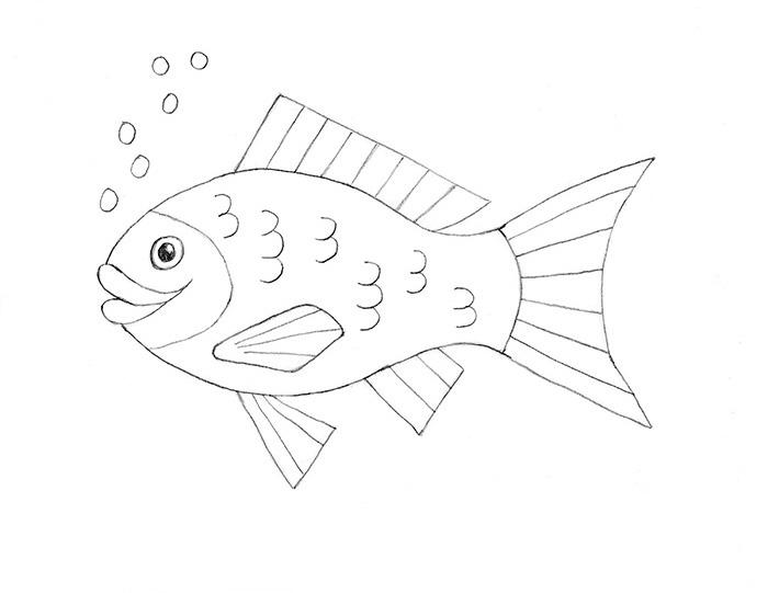 how to draw a fish how to draw a fish for kids drawingforallnet draw to a how fish