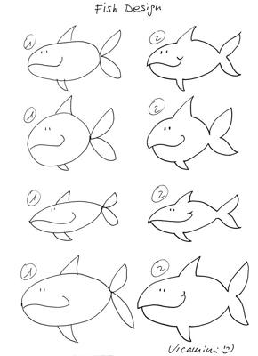 how to draw a fish how to make a fish with pencil 10 step by step lessons fish how draw to a