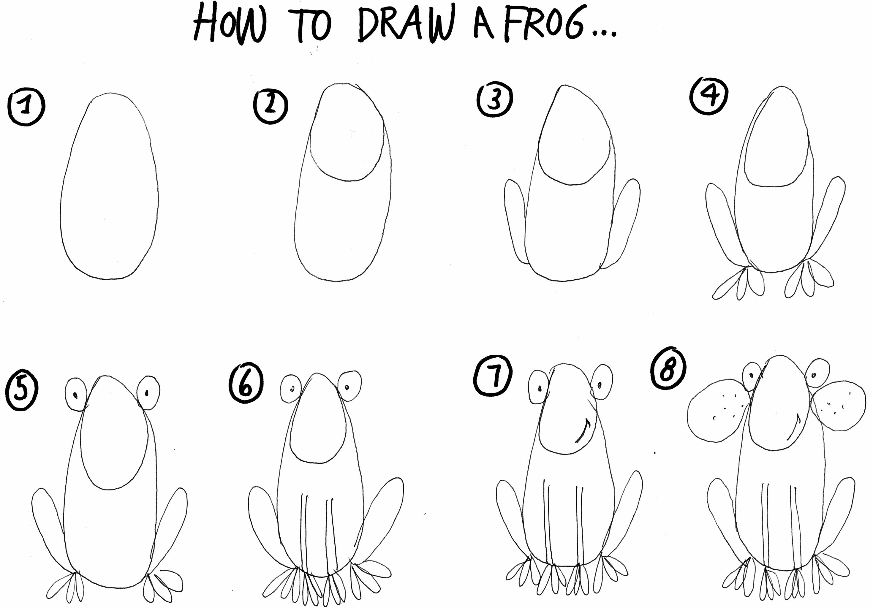 how to draw a frog cartoon frog drawing at getdrawings free download to draw a frog how
