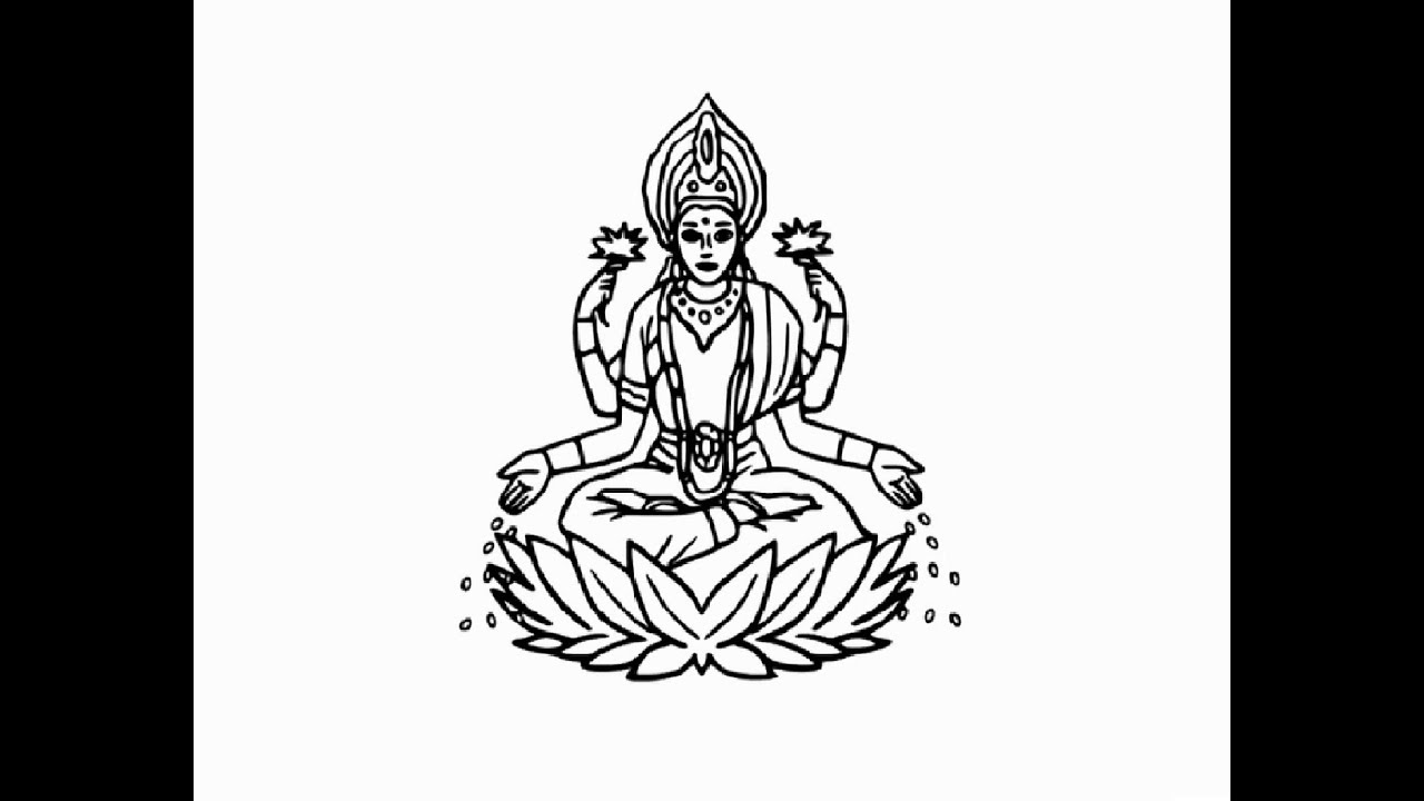 how to draw a goddess how to draw a hindu god hindu goddess step by step art how to draw a goddess
