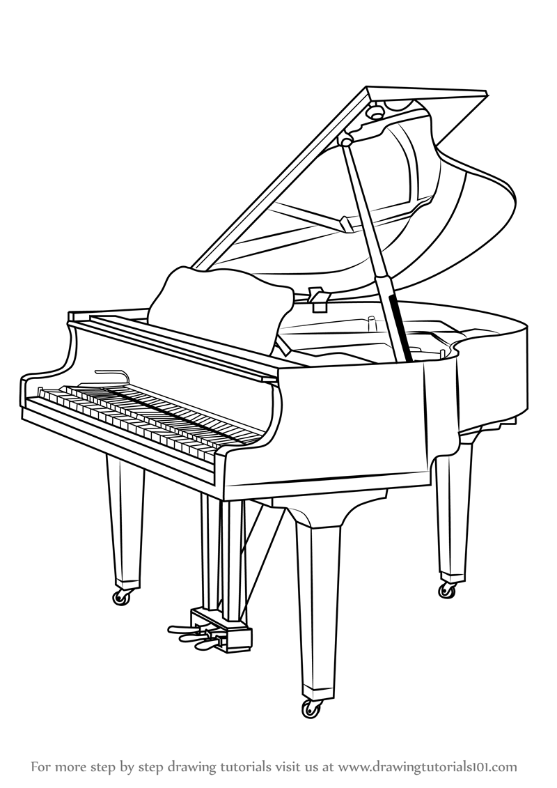 how to draw a grand piano grand piano coloring page free printable coloring pages to grand piano a how draw