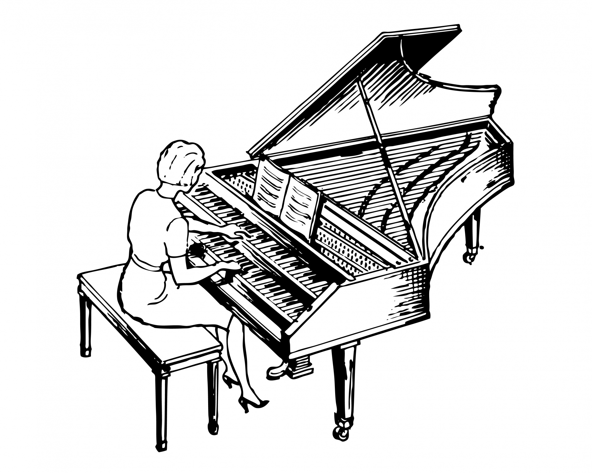 how to draw a grand piano grand piano coloring pages download and print grand piano a draw grand how piano to