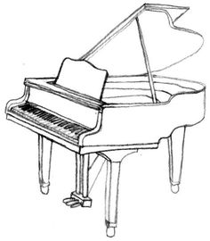 how to draw a grand piano grand piano doodle a hand drawn vector doodle to grand how a piano draw