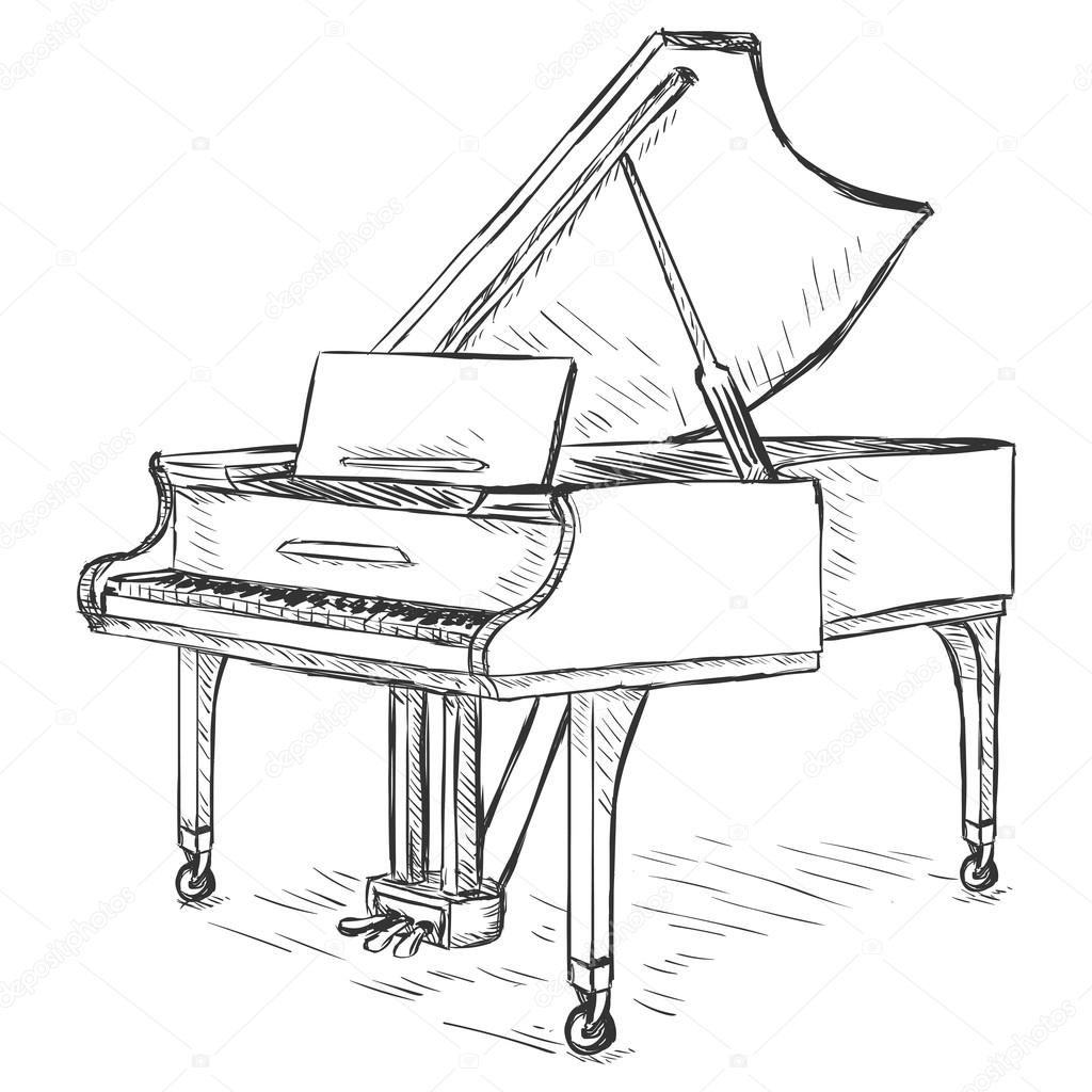 how to draw a grand piano how to draw a grand piano step by step drawing tutorials how grand a to piano draw