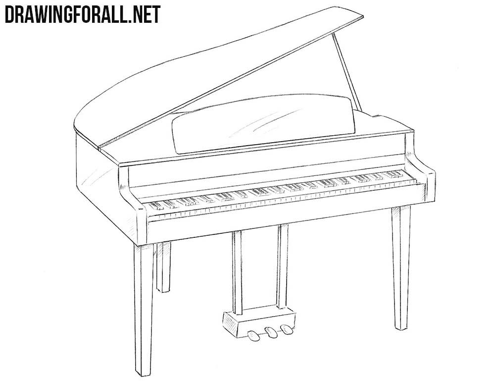 how to draw a grand piano musical keyboard drawing at getdrawings free download to how piano a draw grand